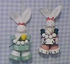 Finished Bunny Ornaments