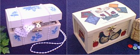 Fabric Decoupage Boxes