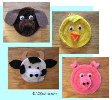 Farm Animal Refrigerator Magnets Project