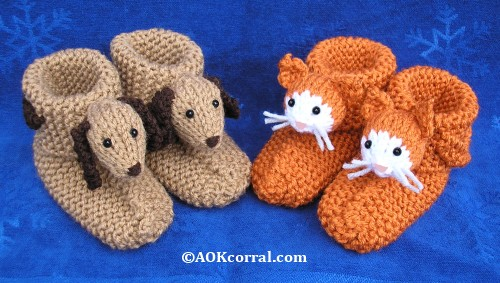 Childrens Knitted Slippers Childrens Knit Animal Slippers
