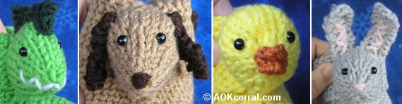 Childrens Knitted Slippers - Childrens Knit Animal Slippers