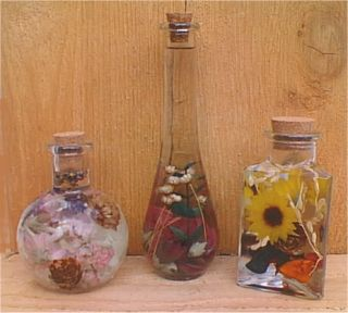 Flowers in Oil - Decorative Bottles