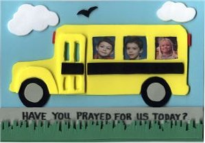 School Bus Prayer Reminder Frame & Magnet