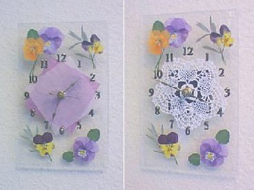 Pressed Flower Clock