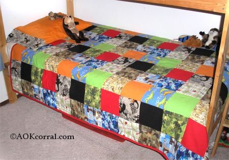 How To Make A Comforter Crib Twin Full Or Queen Quilt Top