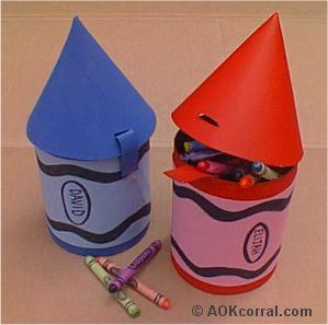 Crayon School Box