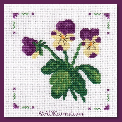 Pansy Cross Stitch