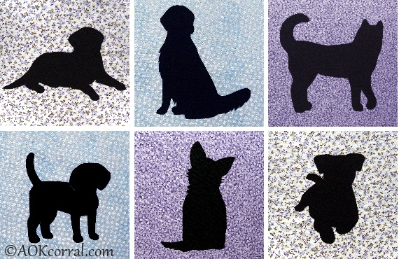 Dog applique patterns for quilts embroidery crafts