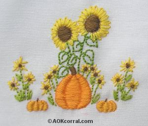 Fall and Thanksgiving Table Linens - Embroidery Patterns