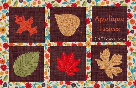 Finished Leaf Appliques