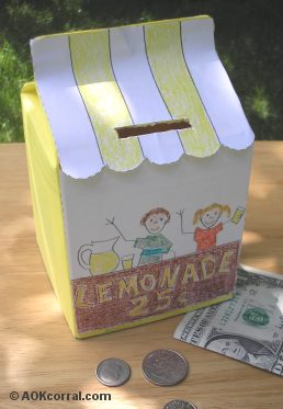 Lemonade Stand Bank