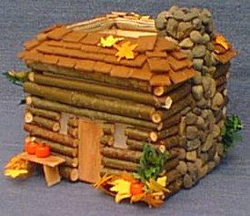 Log Cabin Votive Candle Centerpiece