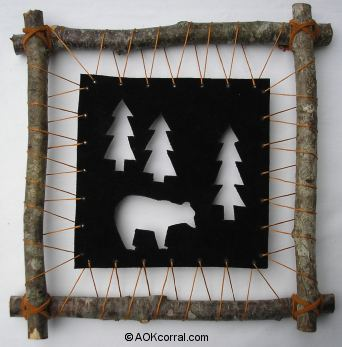 Black Bear Rustic Wall Hanging Project