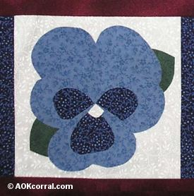 Finished Pansy Applique
