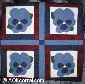 Finished Pansy Quilt