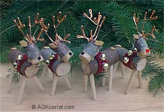 reindeer christmas ornaments november 2004 - Wooden Deer Christmas Decorations