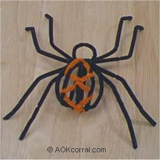Make A Spider And Spider Web Instructions Spider Craft Project