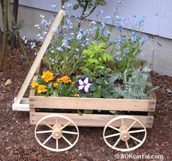 Rustic Wagon Planter