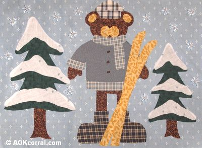 Winter Bear Applique