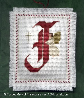 Angels Christmas Ornaments for Cross Stitch