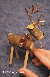 Reindeer Ornaments - How to Make Wooden Reindeer Christmas Ornaments