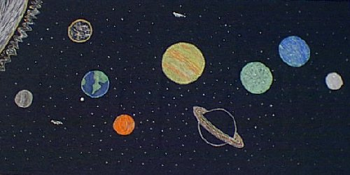 kid s glow in the dark solar system project
